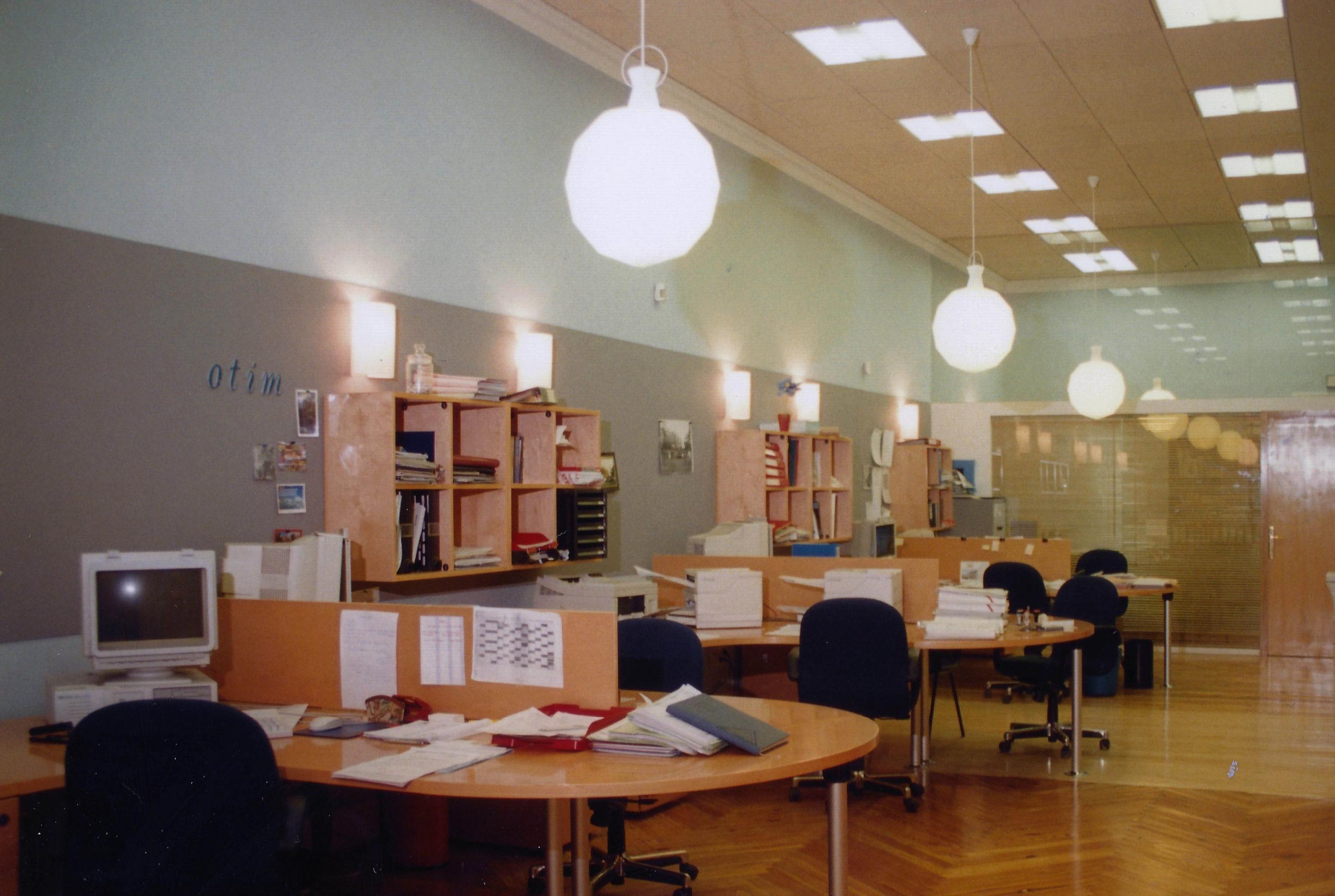 Reforma de oficinas Hispano Marítima</br>Madrid</br>1997